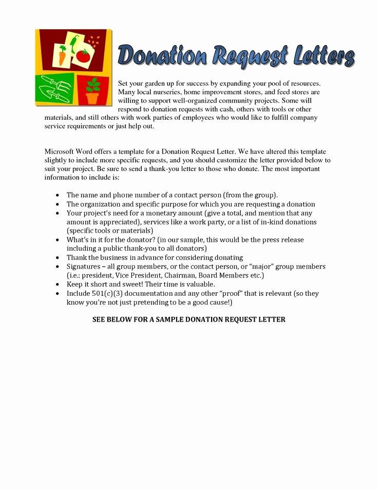 Sample Letters asking for Donations Lovely Sample Church Donation Letter