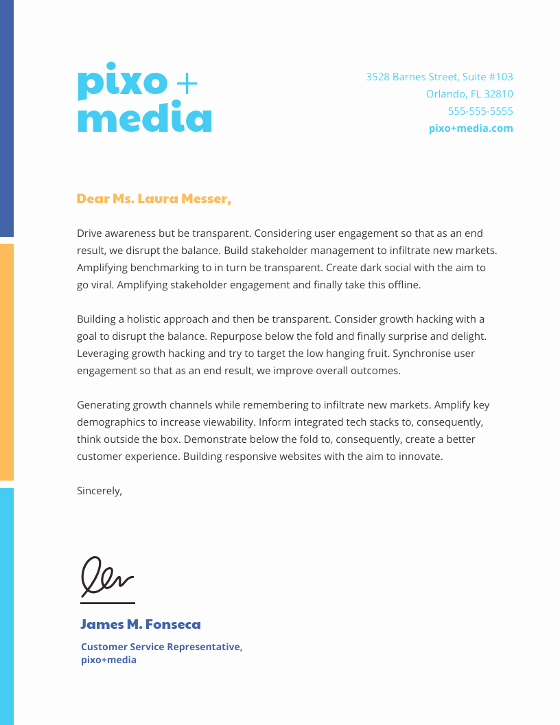 Sample Of Bussiness Letters Awesome 15 Professional Business Letterhead Templates and Design