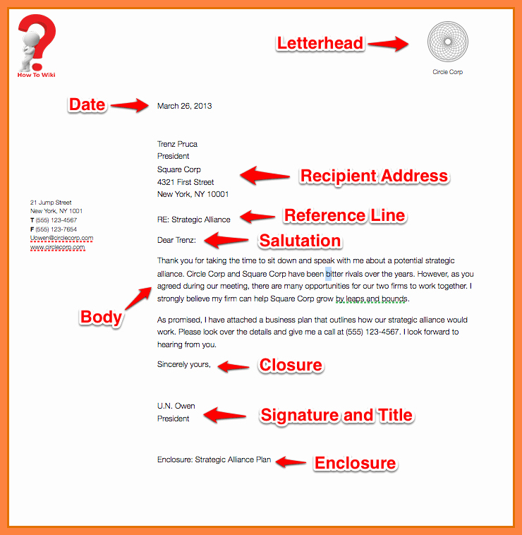 Sample Of Bussiness Letters Awesome How to Write A Business Letter for A Pany [with Example