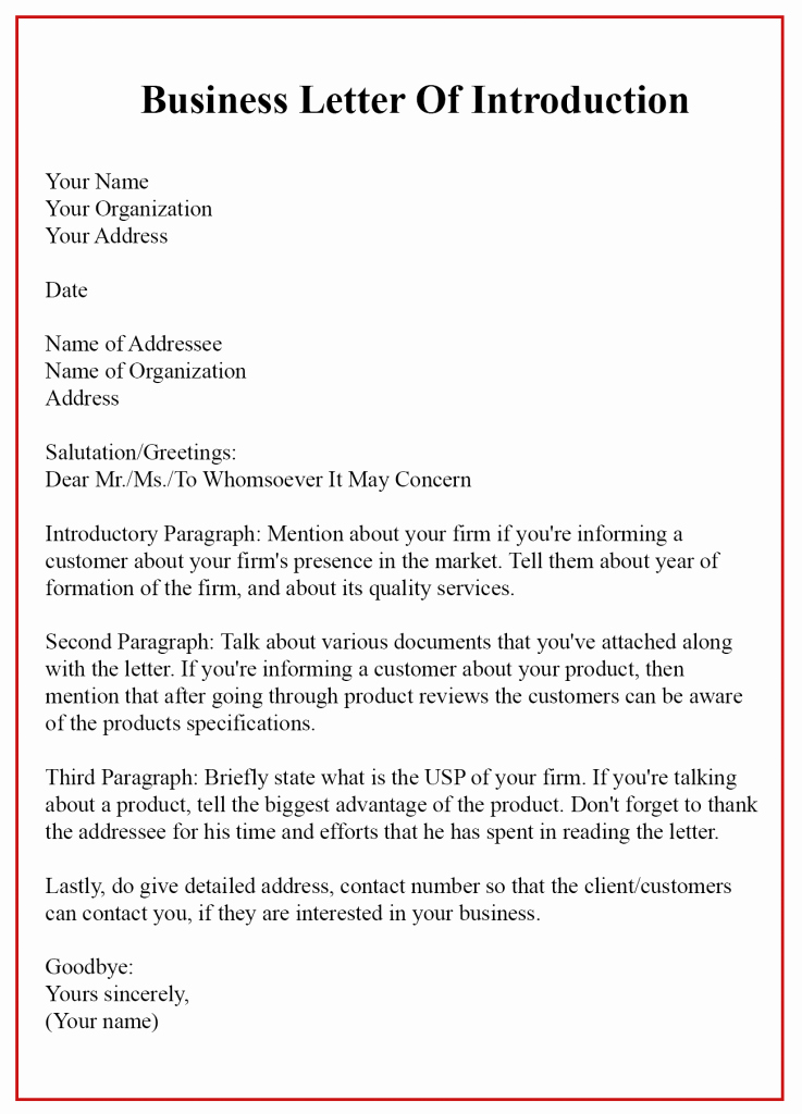 Sample Of Bussiness Letters Beautiful 4 Business Sample Letter Of Introduction with Example