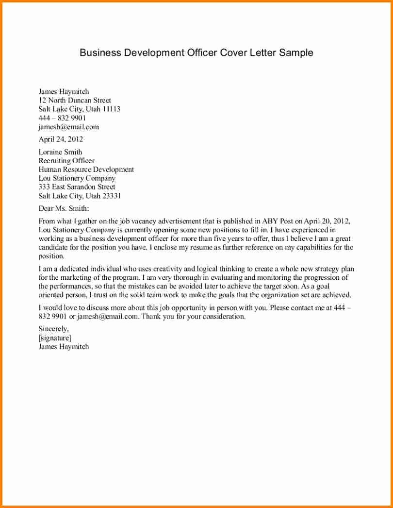 Sample Of Bussiness Letters Fresh Business Letter format Example