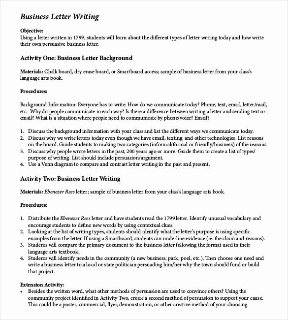 Sample Of Bussiness Letters Lovely 25 Business Letter Templates Pdf Doc Psd Indesign