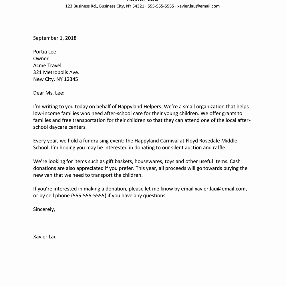 Sample Of Bussiness Letters Lovely Business Letter Layout Example