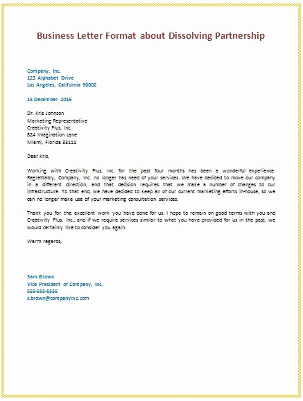 Sample Of Bussiness Letters Luxury Business to Business Letter format