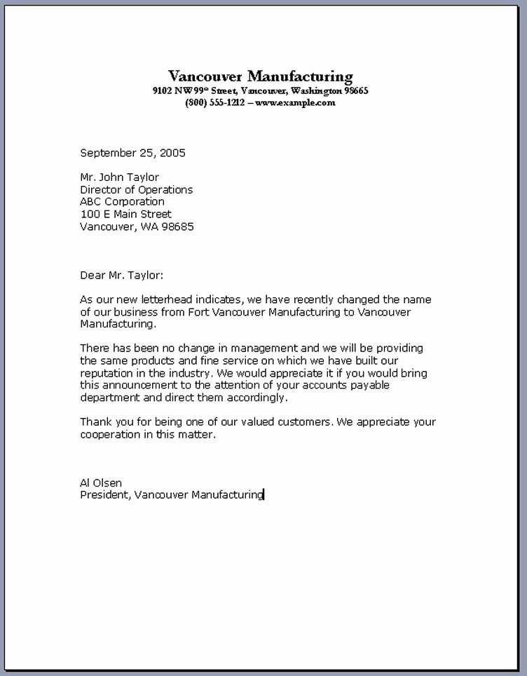 Sample Of Bussiness Letters New Business Letter formats – Download Pdf