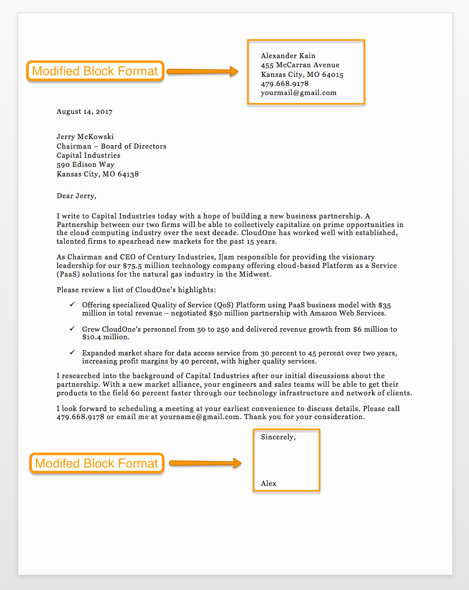 Sample Of Bussiness Letters New Sample Business Letter format 75 Free Letter Templates