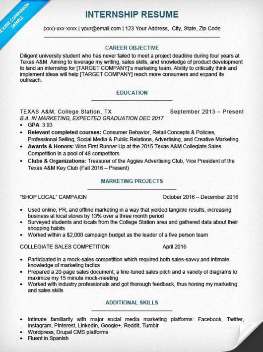 Sample Resume College Student Awesome College Student Resume Sample & Writing Tips