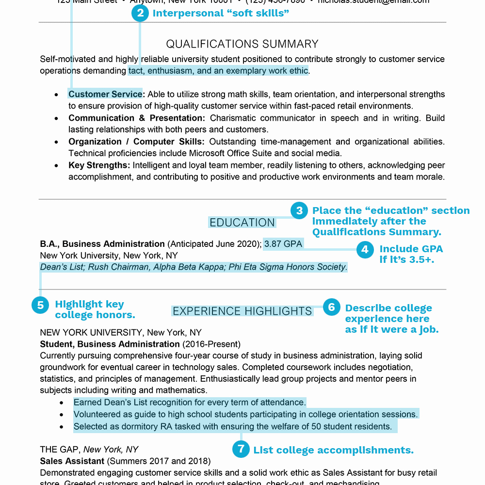 Sample Resume College Student Awesome Student Resume Examples and Templates