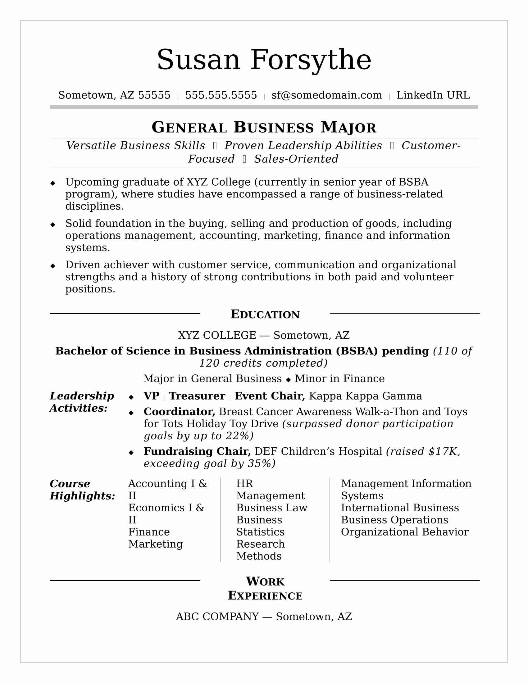 Sample Resume College Student Best Of College Resume Sample