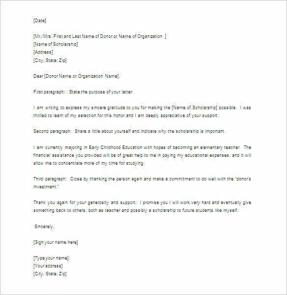 Sample Scholarship Thank You Letter Best Of 9 Scholarship Thank You Letter Doc Pdf