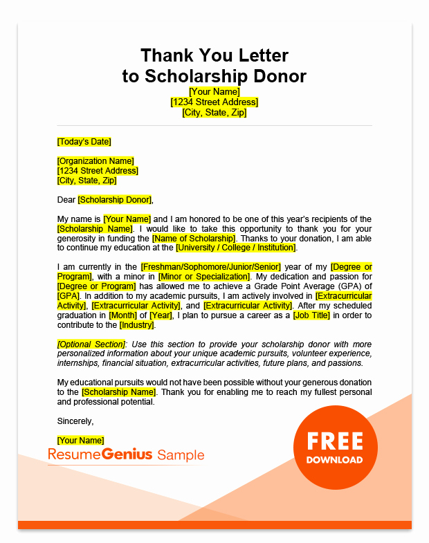 Sample Scholarship Thank You Letter New Scholarship Thank You Letter Samples