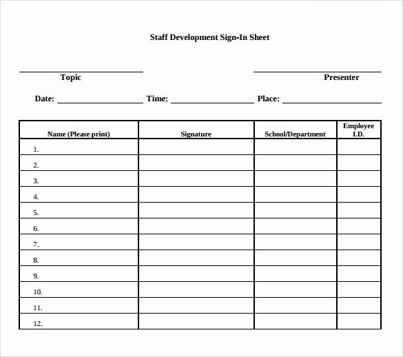 Sample Sign In Sheet Luxury Sample School Sign In Sheet 12 Documents In Pdf