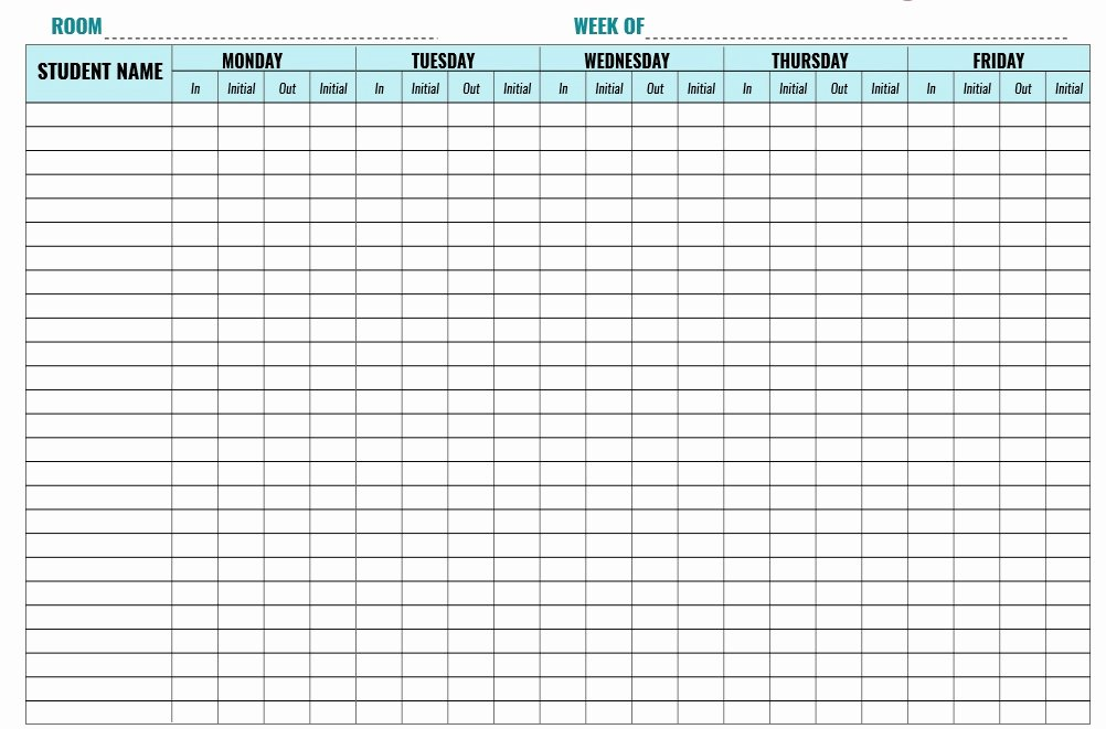 Sample Sign In Sheet New 9 Free Sample Child Care Sign In Sheet Templates