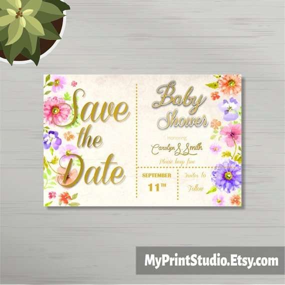 Save the Date Baby Shower Awesome 12 Baby Shower Save the Date Template Designs Psd Ai