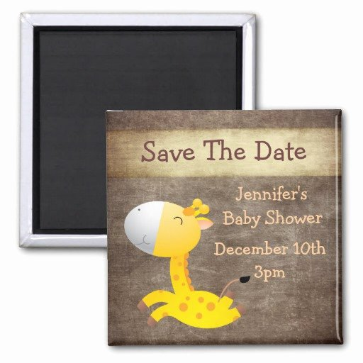 Save the Date Baby Shower Awesome Cute Giraffe Save the Date Baby Shower Fridge Magnets