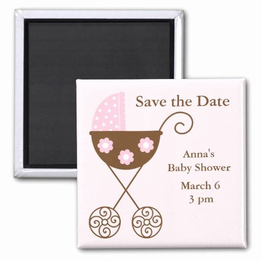 Save the Date Baby Shower Awesome Pink Stroller Baby Shower Save the Date Refrigerator