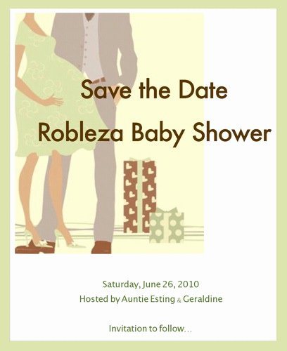 Save the Date Baby Shower Elegant Jacob Dylan Robleza