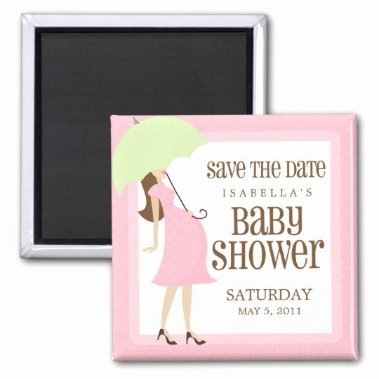 Save the Date Baby Shower Fresh Pink Baby Shower Save the Date Magnet