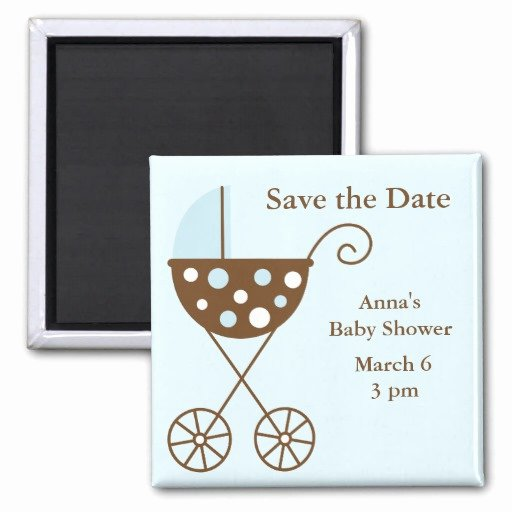 Save the Date Baby Shower Inspirational Blue Stroller Baby Shower Save the Date Refrigerator