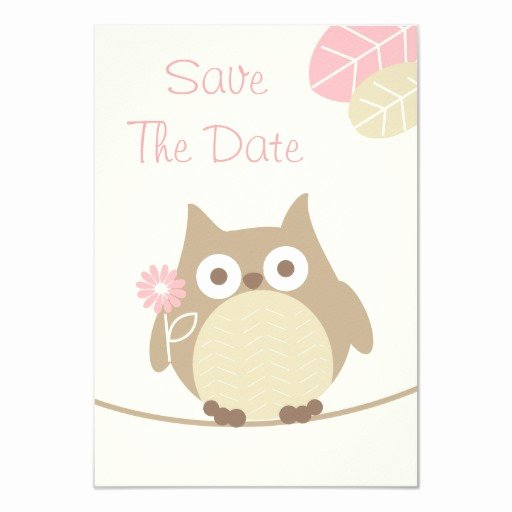 Save the Date Baby Shower Inspirational Girl Owl Baby Shower Save the Date Custom Invites