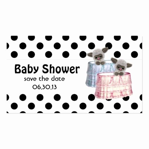 Save the Date Baby Shower Lovely Baby Shower Save the Date Lambs and Polka Dots Double