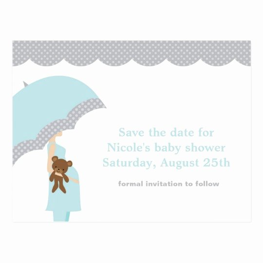 Save the Date Baby Shower Lovely Stick Figure Bride and Groom Postcards
