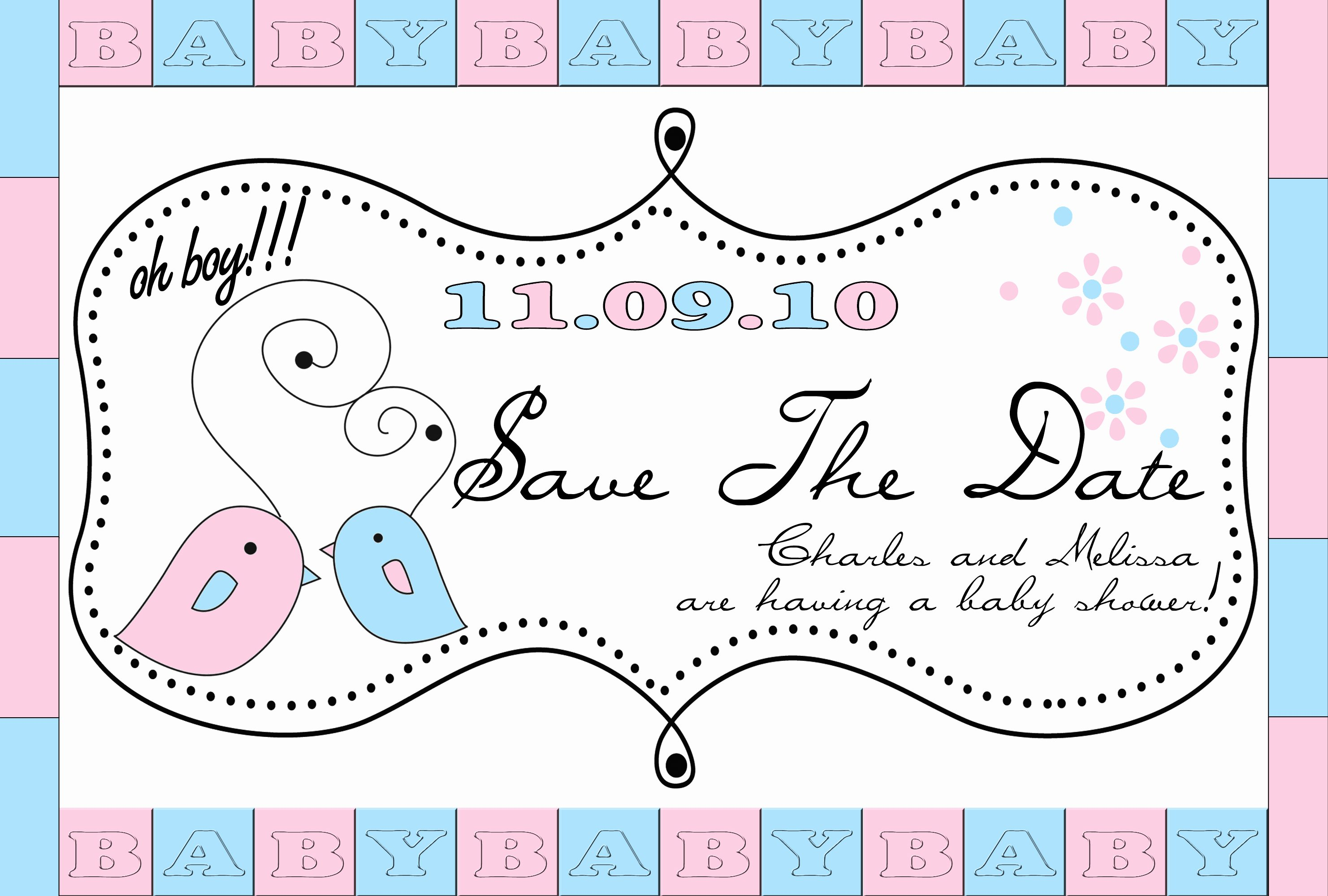 Save the Date Baby Shower Luxury Baby Shower Save the Date Pregnancy Baby Child
