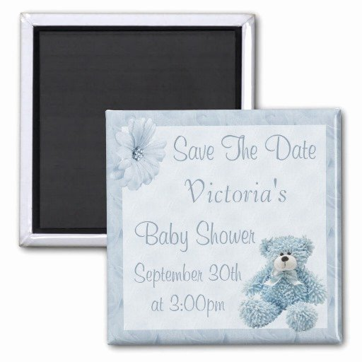 Save the Date Baby Shower Luxury Blue Teddy Save the Date Boy Baby Shower Refrigerator