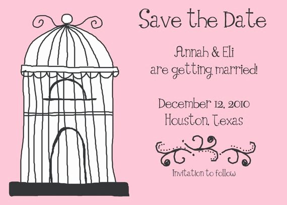 Save the Date Baby Shower Luxury Items Similar to Whimsy Birdcage Save the Date Bridal