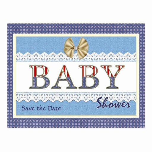 Save the Date Baby Shower Luxury Save the Date Patriotic Baby Shower Postcard
