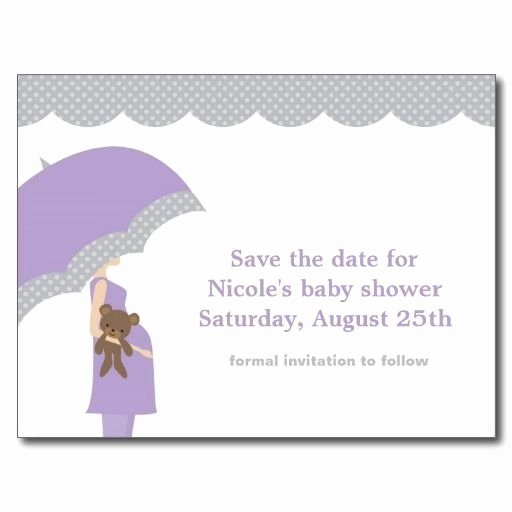 baby shower save the date cards