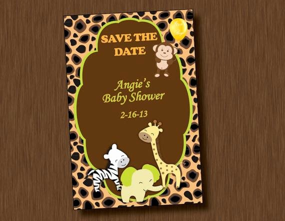 Save the Date Baby Shower New Printable Baby Shower Save the Date Invitation by Allewiredups