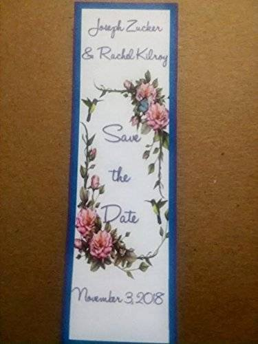 Save the Date Bookmarks Awesome Amazon Wedding Save the Date Laminated Bookmarks 6