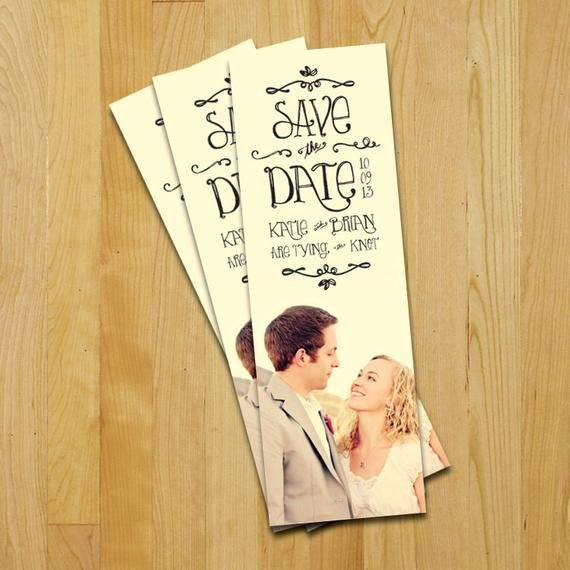 Save the Date Bookmarks Awesome Unavailable Listing On Etsy