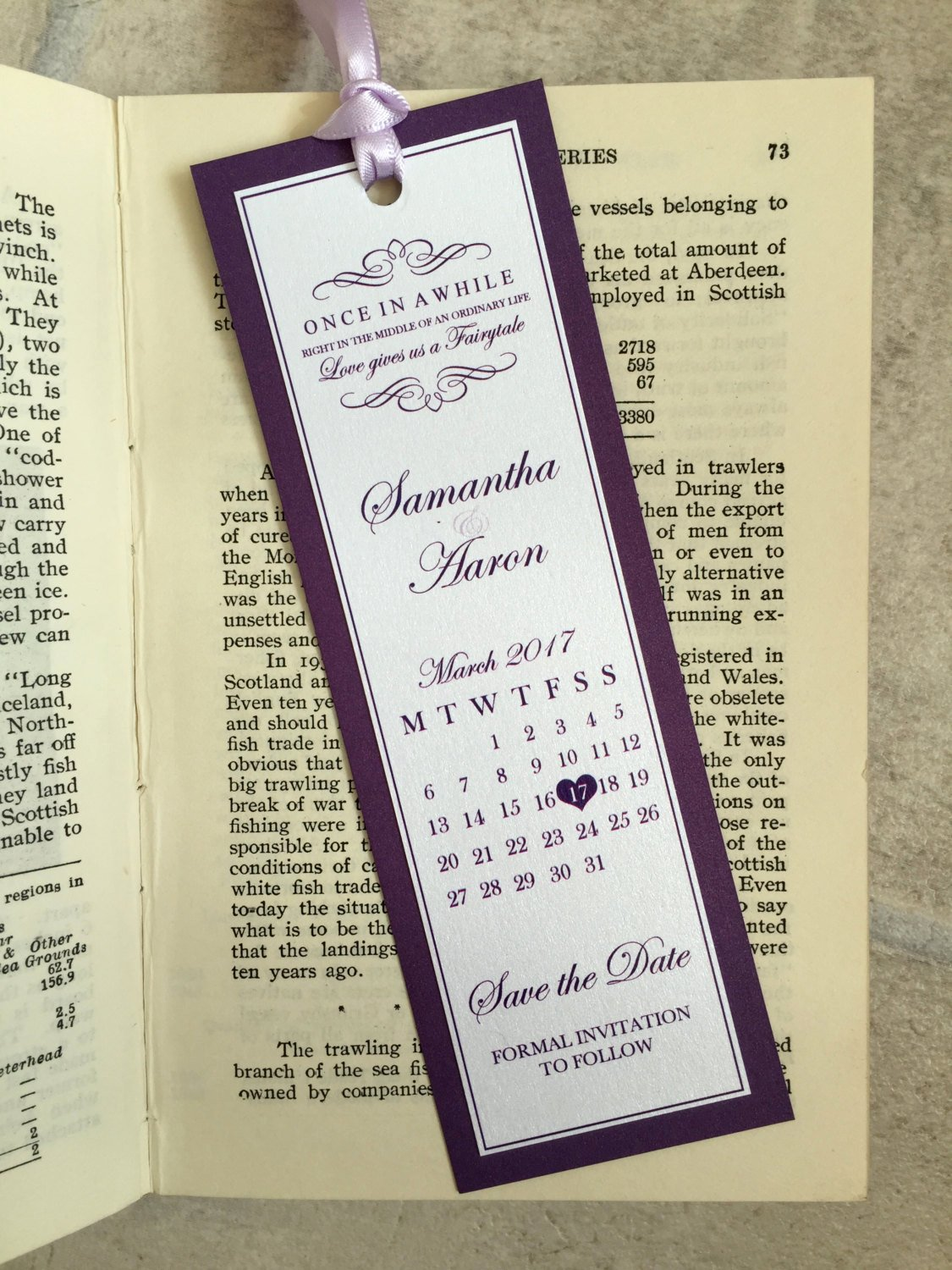 Save the Date Bookmarks Awesome Wedding Save the Date Bookmarks