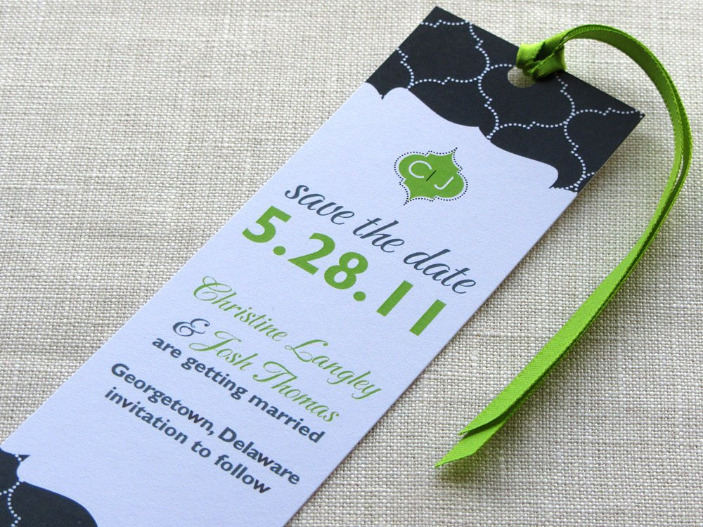 Save the Date Bookmarks Beautiful Bookmark Save the Date Book theme Wedding Indian Lattice