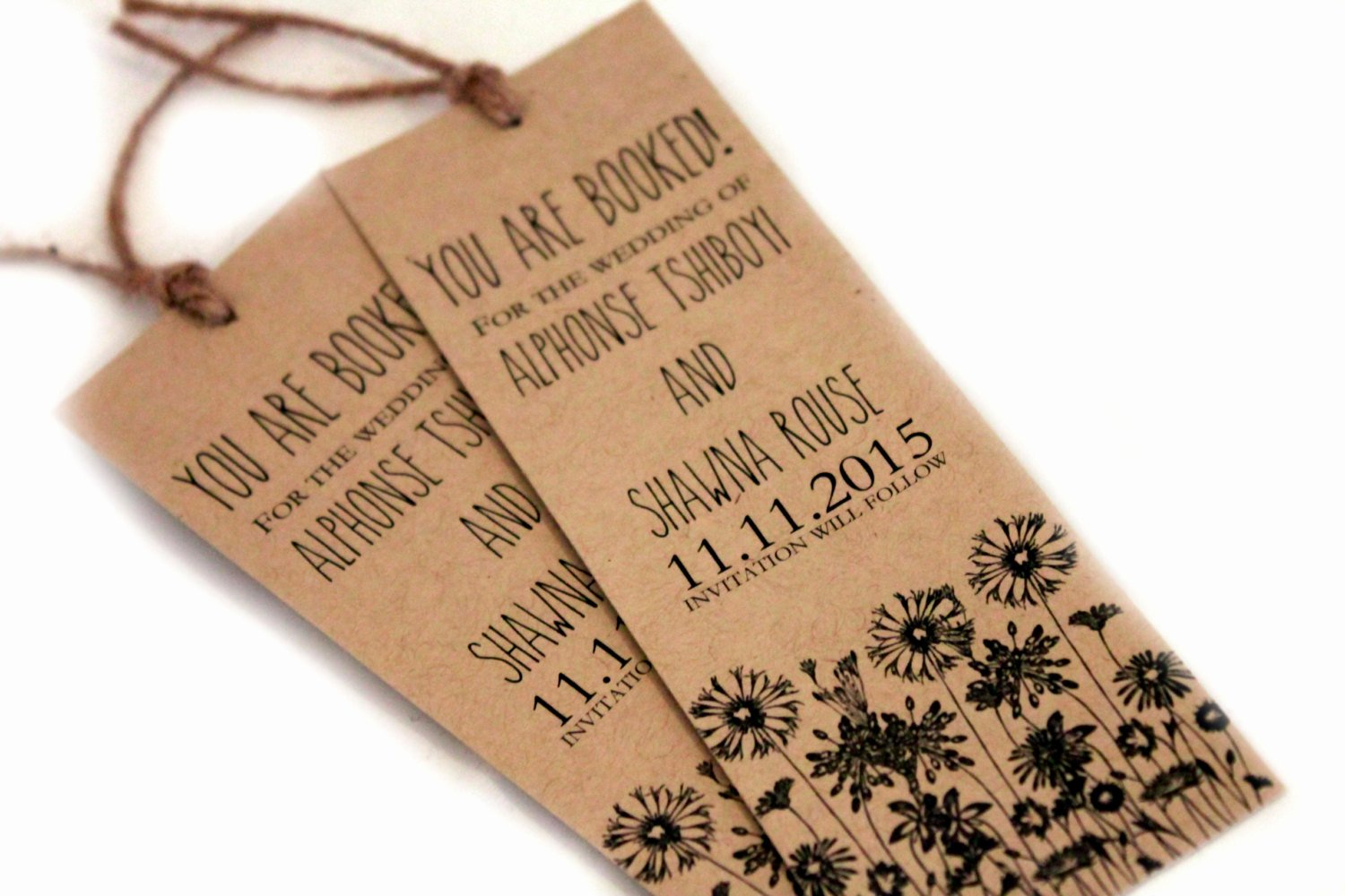 Save the Date Bookmarks Beautiful Bookmark Save the Date Set Save the Date Card Bookmarks