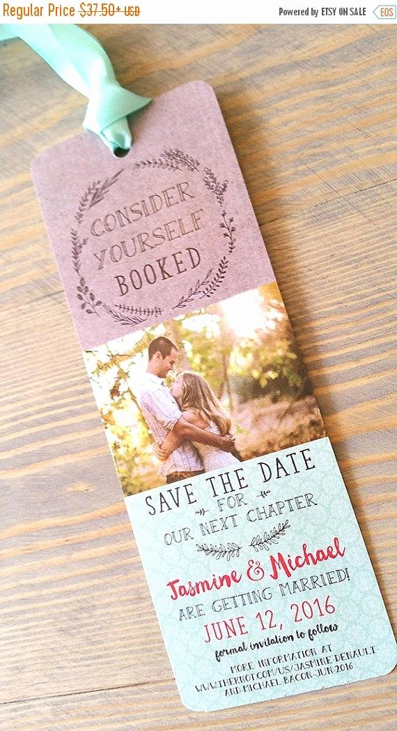 Save the Date Bookmarks Elegant Save the Date Bookmark Save the Date by Raspberrycreative