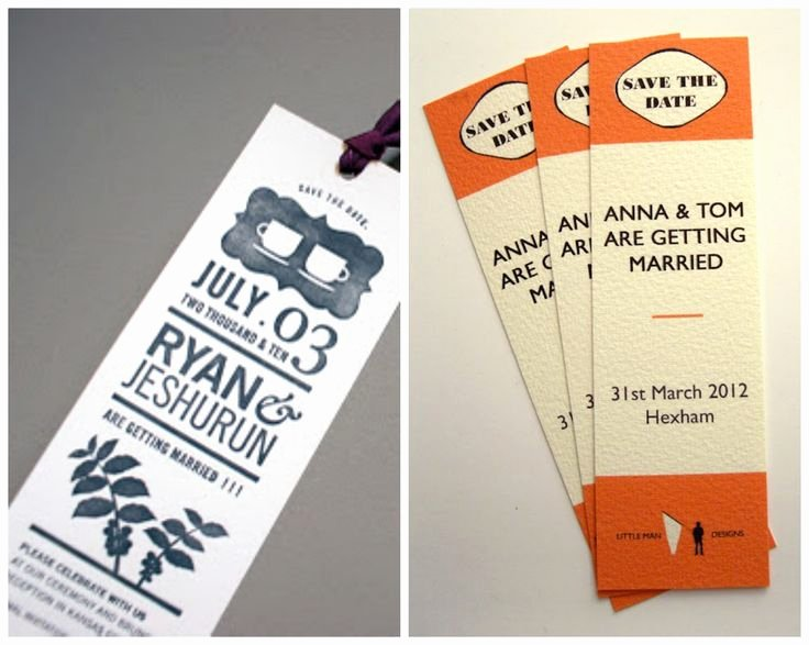 Save the Date Bookmarks Fresh 40 Best Images About Bookmark Wedding Favors On Pinterest