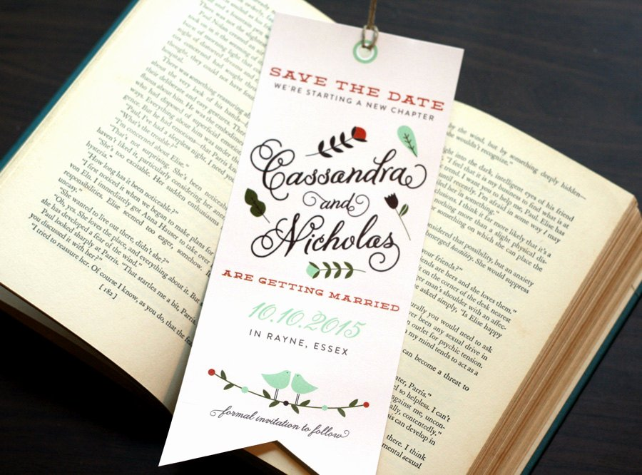 Save the Date Bookmarks Fresh Bookmark Save the Date Ce Upon A Time A New Chapter
