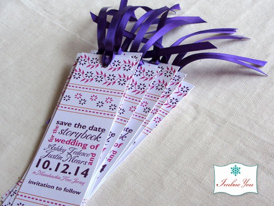 Save the Date Bookmarks Lovely Color Advice