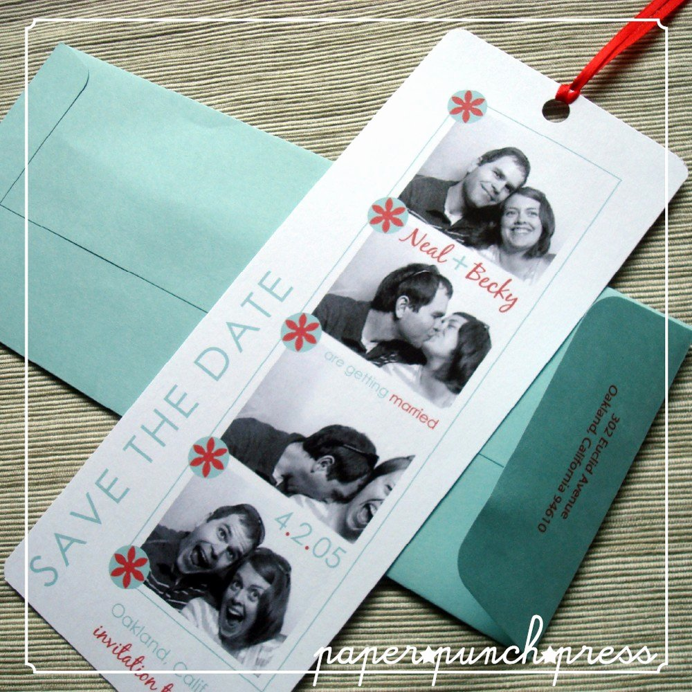 Save the Date Bookmarks Lovely Save the Date Bookmarks