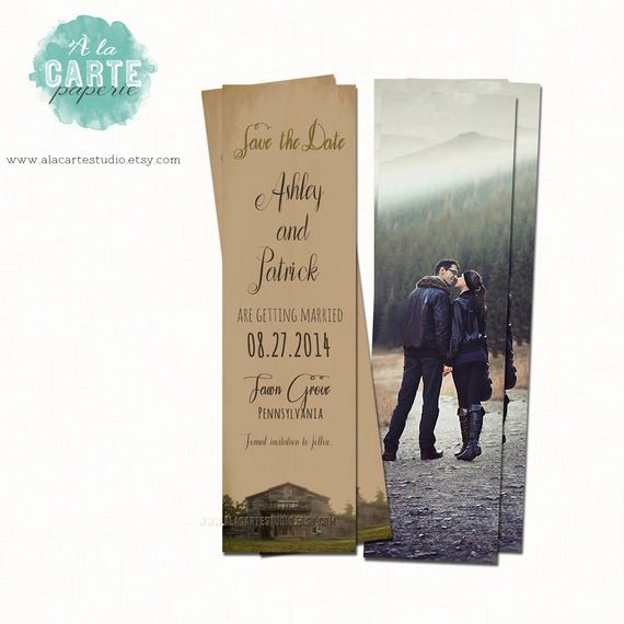 Save the Date Bookmarks Luxury Save the Date Bookmark Vintage Rustic Wedding Bookmark Save