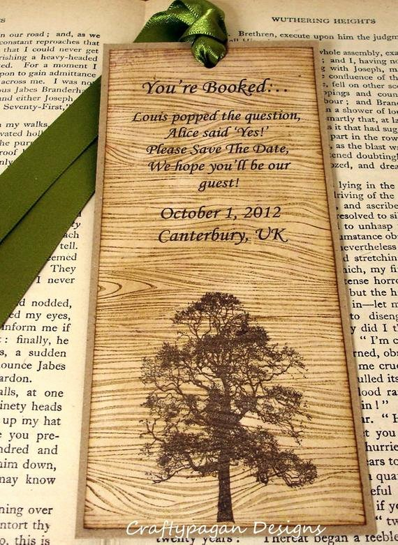 Save the Date Bookmarks New Items Similar to Rustic Save the Date Bookmark with