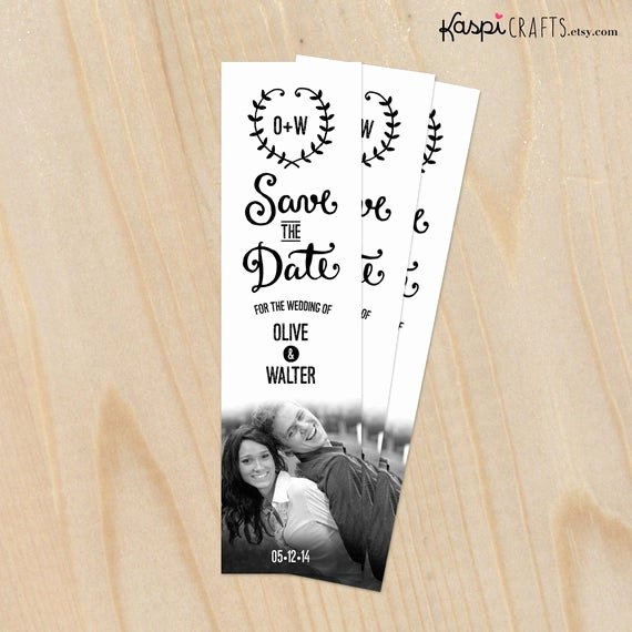 Save the Date Bookmarks New Save the Date Bookmark Rustic Wedding Diy Printable by
