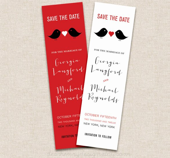 Save the Date Bookmarks Unique Save the Date Bookmark Template 69 Free Psd Ai Eps