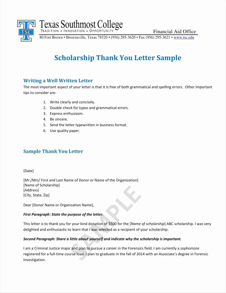 Scholarship Thank You Letter Examples Lovely 9 Donation Acknowledgment Letter Templates Free Word Pdf