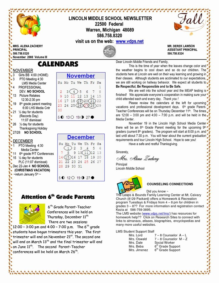 School Newsletter Templates Free Awesome School Newsletter Templates