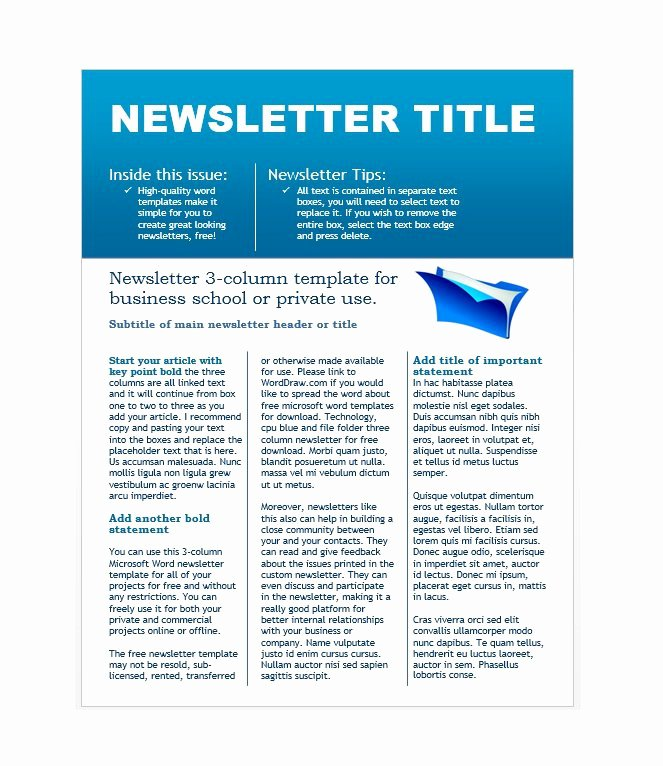 School Newsletter Templates Free Beautiful 50 Free Newsletter Templates for Work School and