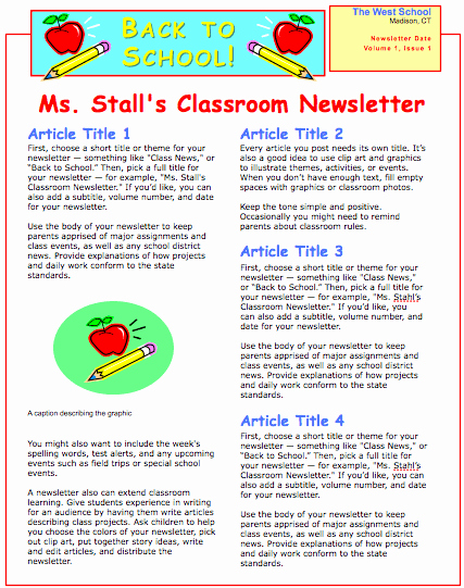 School Newsletter Templates Free Beautiful School Newsletter Template for Pages Free Iwork Templates